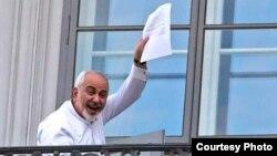 Міністар замежных спраў Ірана Махамад Джавад Зарыф падчас перамоваў па ядзернай праграме ў Вене