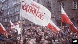 تظاهرات جنبش سولیدارنوش در ورشو در سوم مه ۱۹۸۲