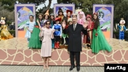 Ադրբեջանի նախագահը և նրա կինը մասնակցում են Նովրուզի տոնակատարությանը, 18-ը մարտի, 2017թ․
