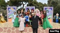 Prezident və vitse-prezident uşaqlarla, 18 mart 2017