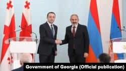Ираклий Гарибашвили и Никол Пашинян