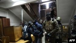 Протестующие захватили здание сельского хозяйства Украины. Киев, 29 января 2014 года.