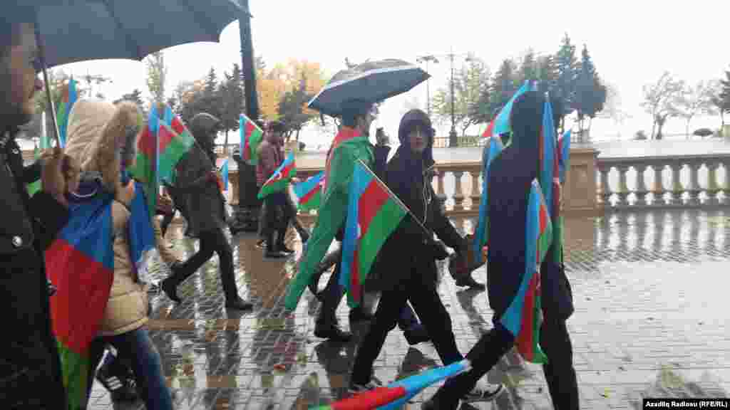 Azerbaijan - National flag day in Baku
