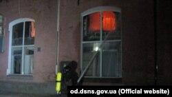 Odesanıñ «Tokio Star» musafirhanesinde çıqqan yanğın, Ukraina Fevqulâde vaziyetler devlet hızmetiniñ fotosı