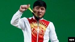Қырғызстан ауыр атлеті Иззат Артықов Рио Олимпиадасында.