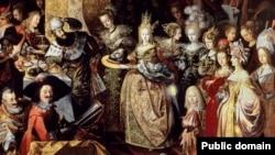 Фрагмэнт карціны Барталамея Стробэля «Пір Ірада і адсячэньне галавы Яна Хрысьціцеля»