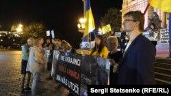 Акция протеста в Праге против выступления Валентины Лисицы, 19 сентября 2018 года