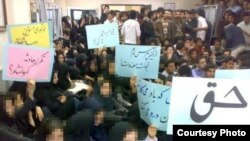 دانشجویان سهند در زمان اعتصاب.