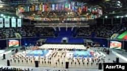 Церемонија на отворање на Светското првенство во Бокс во Баку, Азербејџан на 25 септември 2011 година.