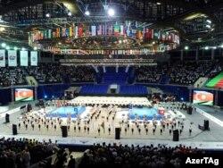 На церемонии открытия чемпионата мира в Баку, 25 сентября 2011