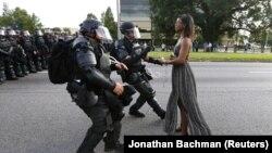 Снимок с протестов в Батон-Руж