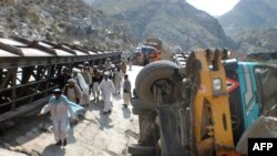 A bomb blast earlier this week destroyed a bridge and interrupted supplies on the Khyber Pass