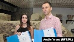 Ivana Lalić Majdak i Miloš Teodorović sa nagradom EU za istraživačko novinarstvo