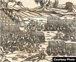 Гравюра «Бітва пад Варнай», 1444 год