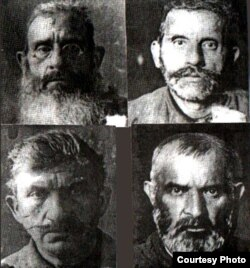 Güllələnmiş qardaşlar: Mustafa Əfəndi, Həbib Əfəndi, Süleyman Əfəndi və Sirac Əfəndi