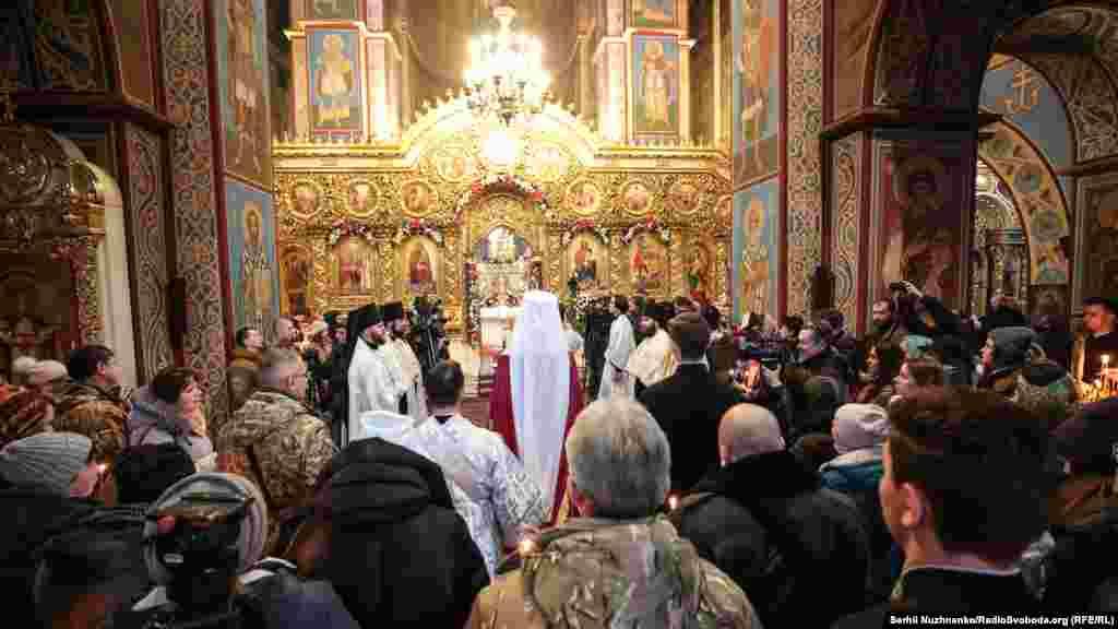 Богослужіння провівпредстоятель Православної церкви України (ПЦУ) митрополитЕпіфаній