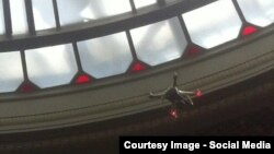 Ukraine - drone in Ukrainian Parliament