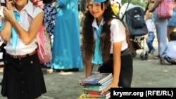 Бакчасарайдагы татар мәктәбендә Белем бәйрәме, 2015 елның 1 сентябре