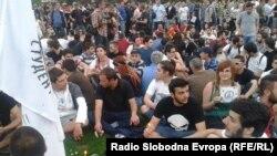 Protesti ispred Sobranja Makedonije