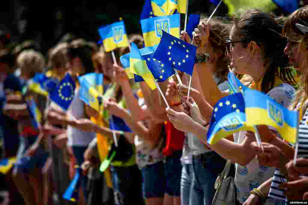 Святкування запровадження безвізового режиму між Україною та Євросоюзом. Запоріжжя, 10 червня 2017 року
