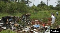 На месте падения самолёта близ Гаваны. 18 мая 2018 года.