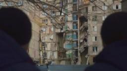 Магнитогорск. Дом, разрушенный взрывом.