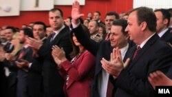 Архивска фотографија - последниот конгрес на ВМРО-ДПМНЕ на кој за лидер беше избран Никола Груевски, Куманово, 2015 година.