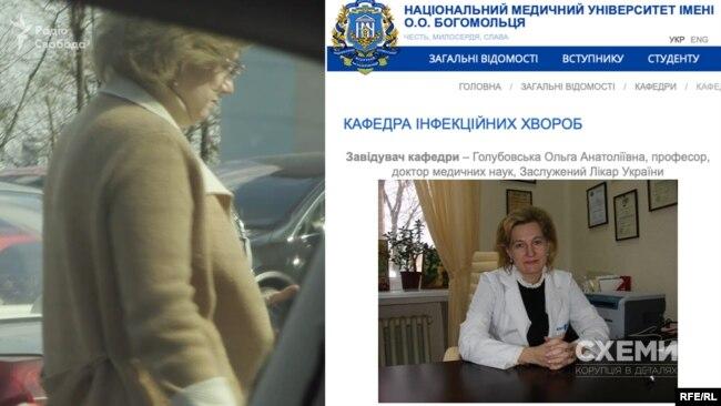 Одна з таких відвідувачів МОЗ, яких зафіксували журналісти – Ольга Голубовська