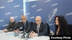 Пресс-конференция руководства Верховного суда Абхазии в Сухуме