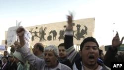 تظاهرة إحتجاج في ساحة التحرير ببغداد