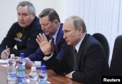 Владимир Путин, Сергей Иванов и Дмитрий Рогозин