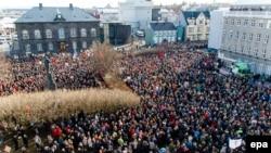 Protesta para Parlamentit të Islandës, 4 prill 2016
