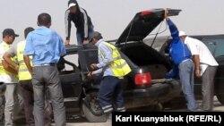 На месте автомобильной аварии. Иллюстративное фото.