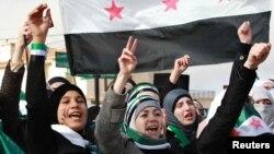 Suriyada etiraz aksiyaları davam edir