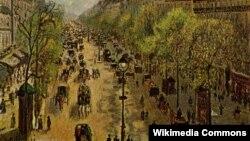 Парижский Монмартр в конце XIX века на картине живописца Камиля Писсарро