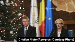 Romania-PM Viorica Dancila and President Klaus Iohannis, gouvernment meeting, Bucharest, 20 dec 2018