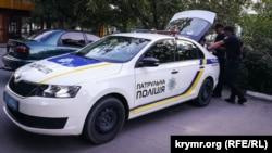 Сотрудники крымской патрульной полиции