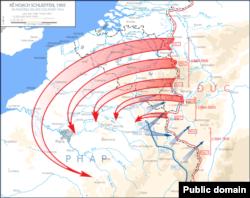 نقشه شلیفن، حمله به فرانسه از طریق بلژیک بود.