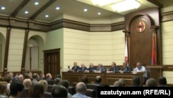 Президент Армении Серж Саргсян выступает на заседании Исполнительного органа РПА, Ереван, 8 сентября 2016 г․
