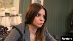 Yevhenia Tymoshenko, the daughter of jailed opposition leader Yulia Tymoshenko (file photo)