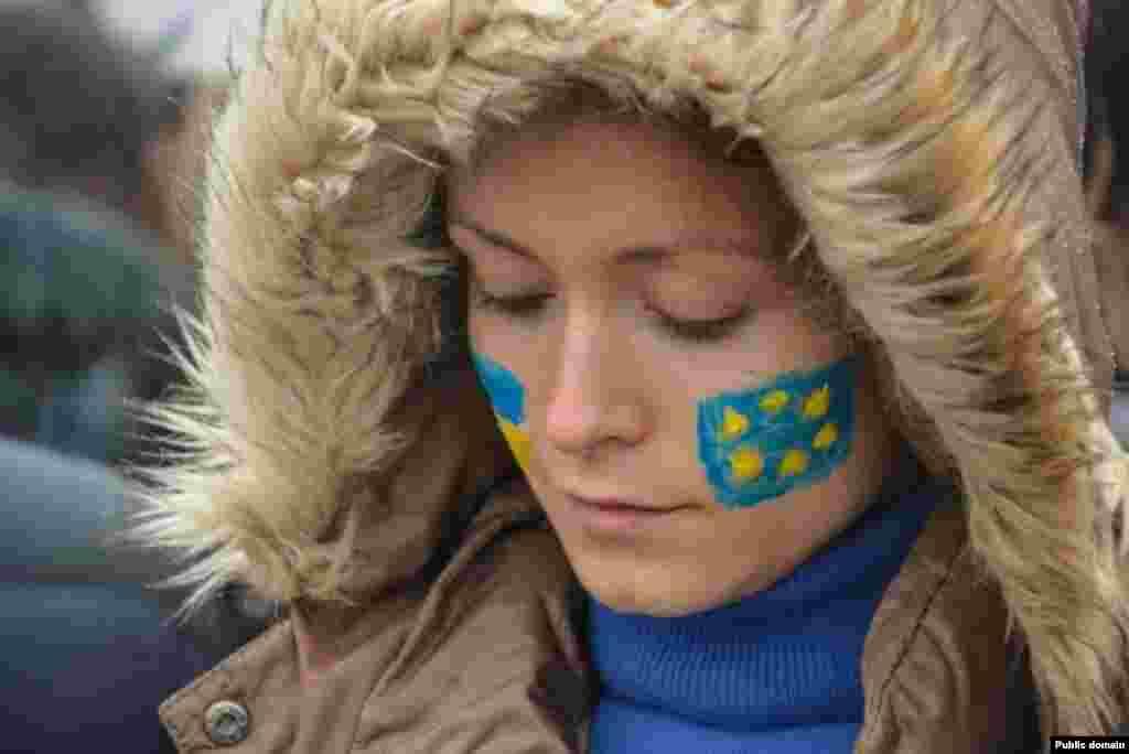 Євромайдан в Берліні (Німеччина)(фото Facebook Julia Onyschenko)