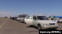 Иллюстративное фото: возле КПВВ «Чонгар» на админгранице с Крымом