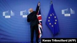 Drapelurile Marii Britanii și al Uniunii Europenii, Bruxelles