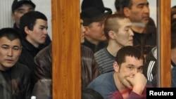 Жаңаөзен сотынан көрініс. Ақтау, 27 наурыз 2012 жыл.