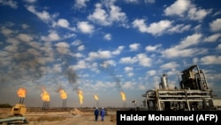 A view of the Bin Omar natural gas facility, part of the Basra Gas Company, north of the southern Iraqi port of Basra, December 14, 2017