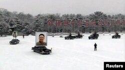 Похоронная процессия в Пхеньяне