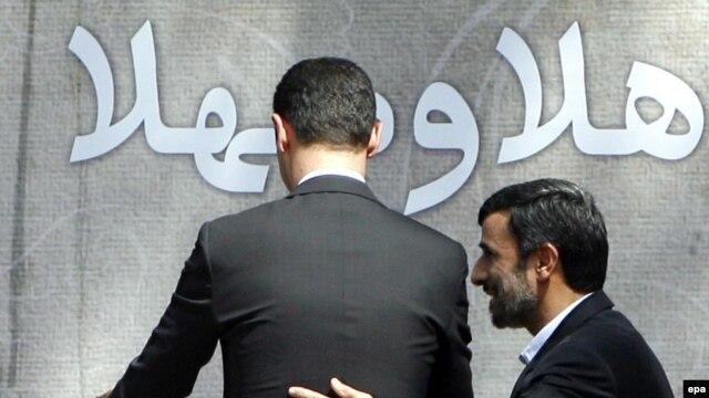 مراسم استقبال از بشار اسد در تهران/ مرداد ۸۸