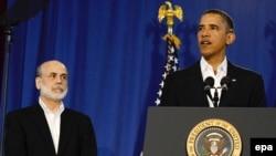 Barack Obama i Ben Bernanke
