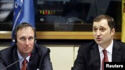 Premierul Vlad Filat și Martin Raiser (Banca Mondială)