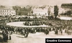 Колективна молитва за гетьмана Скоропадського. Київ, квітень 1918 року